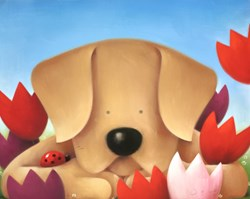 Spring Watch by Doug Hyde - Original Drawing, Paper on Board sized 20x16 inches. Available from Whitewall Galleries